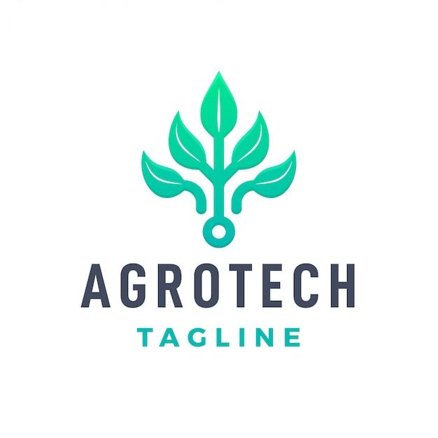Логотип природной фермы агротех