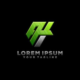 Premium Vector Ah Letter Monogram Logo Illustration