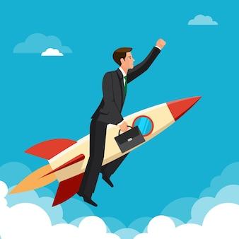 コンセプトを先取りして、人はすべてのライバルに先んじてロケットで勝利を収めて飛んでいます