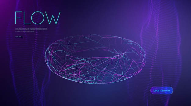 Ai artificial intelligence line flow music abstract background fiber optic 3d design