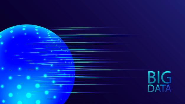 Визуализация больших данных. кибер-технологии ai футуристический bakground. искусственный интеллект .