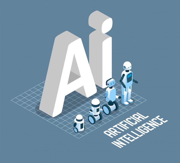 Ai concept isometric illustration