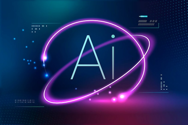 Ai futuristic technology background
