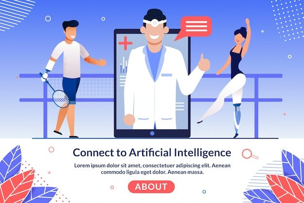 Ai technologies for disabled people vector website