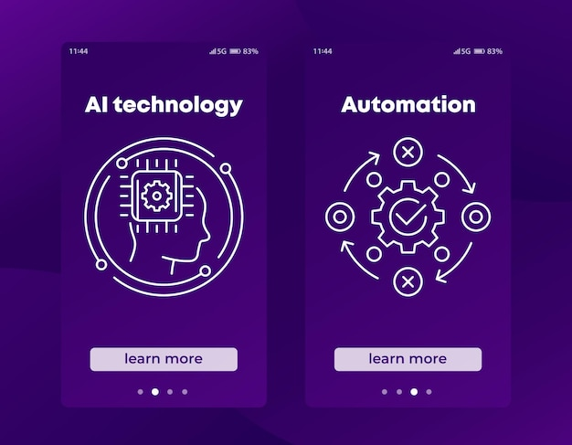 Ai technology and automation banners