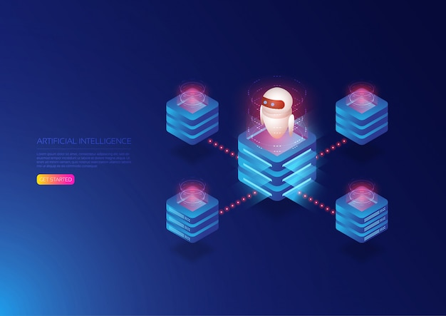 Ai technology isometric