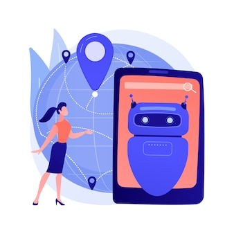 Ai in travel and transportation abstract concept illustration