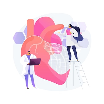 Ai use in healthcare abstract concept illustration