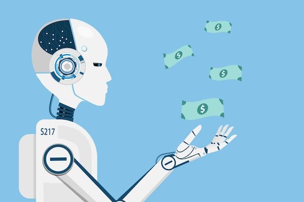 Ai робот, зарабатывающий деньги для человеческого бизнеса.