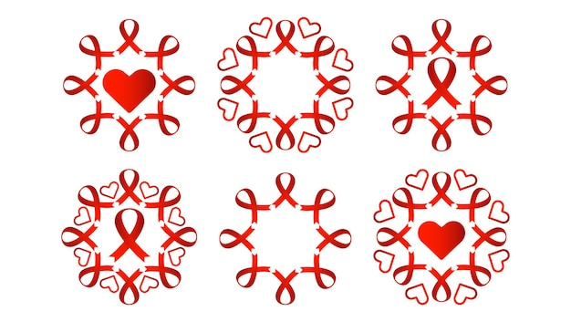 Спид красная лента дизайн коллекции красная лента с сердцем