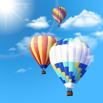 공기 풍선 배경