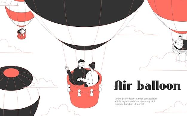 Air balloon banner template