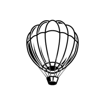 Air balloon illustration on white background