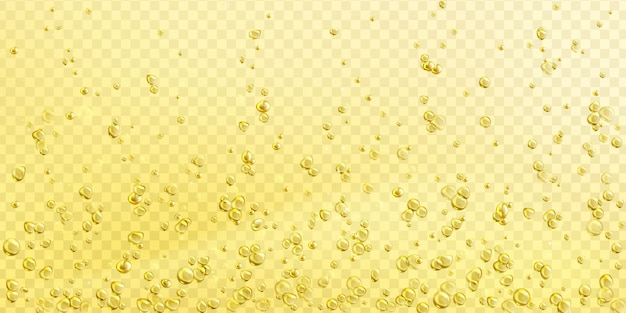 Air bubbles on champagne, soda or water surface