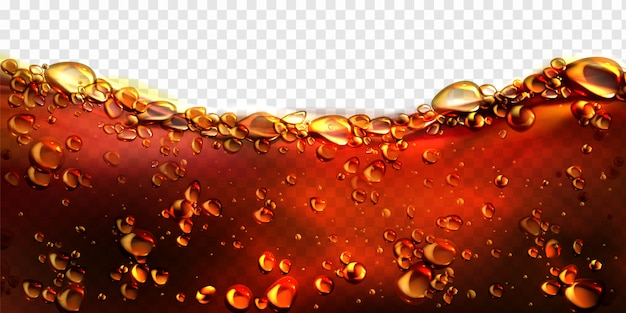 Air bubbles cola, soda drink, beer background