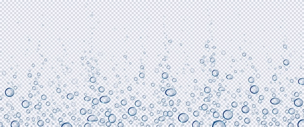 Air bubbles, effervescent water fizz, aqua motion