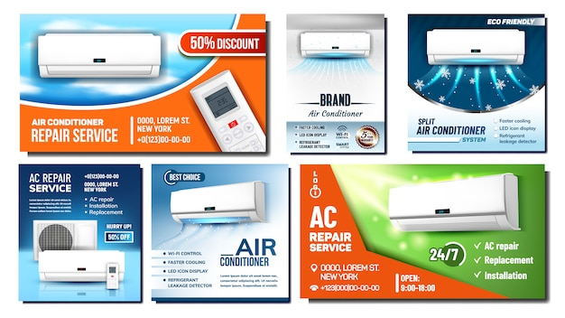 Air conditioner advertising banner