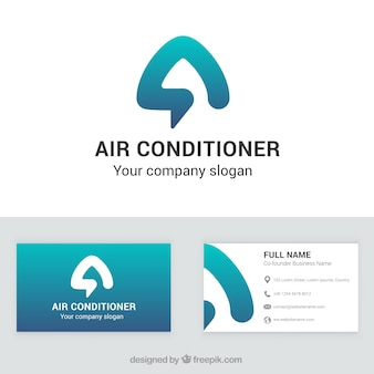 Air conditioner company business card