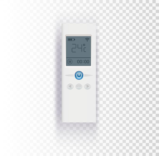Air conditioner control panel on transparent background vector illustration