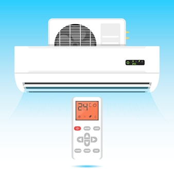 Air conditioner icon wind illustration