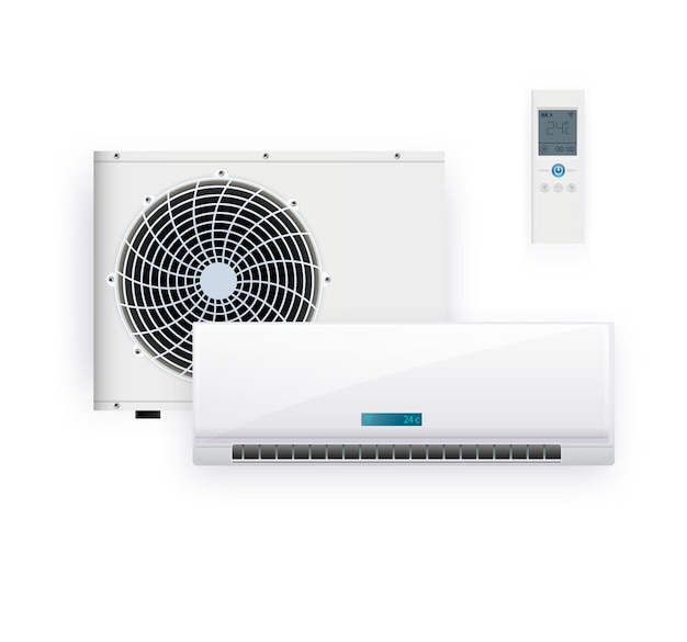 Air conditioner isolated illustration