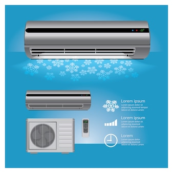 Air conditioner realistic and remote control