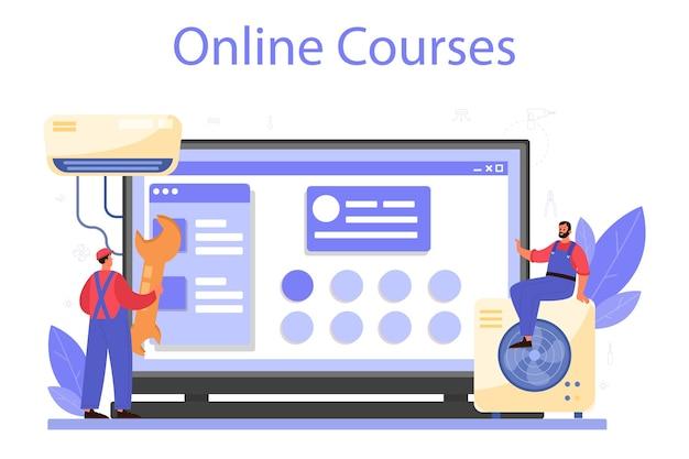 Онлайн-сервис или платформа службы ремонта и установки кондиционеров