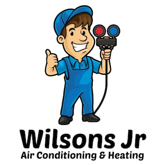 Air conditioner service logo mascot template