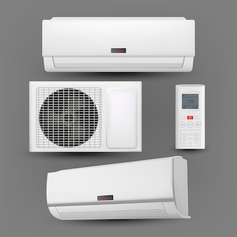 Air conditioner system with control set