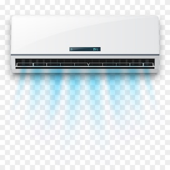 Air conditioner with fresh air flow isolated.