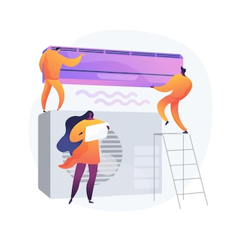 Air conditioning abstract concept illustration