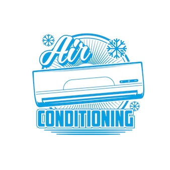 Air conditioning icon, conditioners and split systems