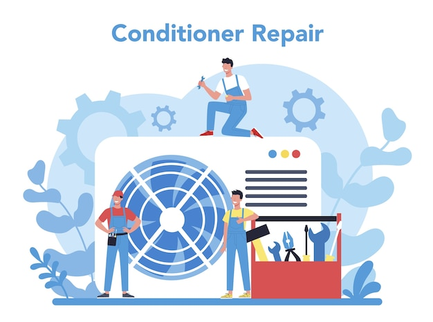 Air conditioning repair and instalation service concept