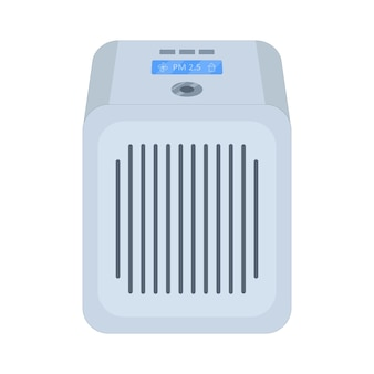 Air filter for air purification. vector illustration in flat style on an isolated white background.