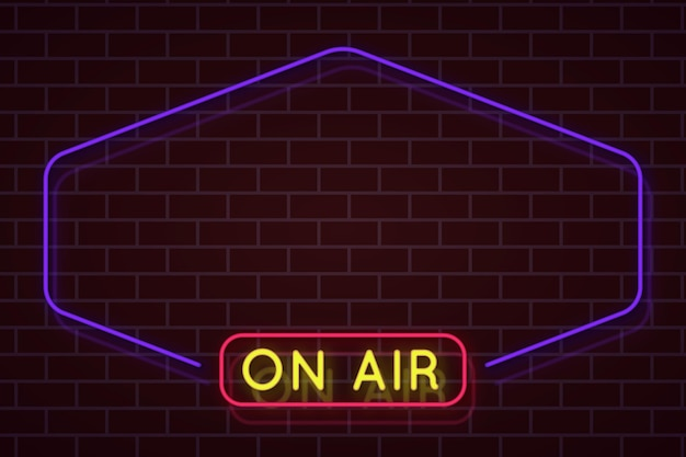 On air neon frame Vettore gratuito