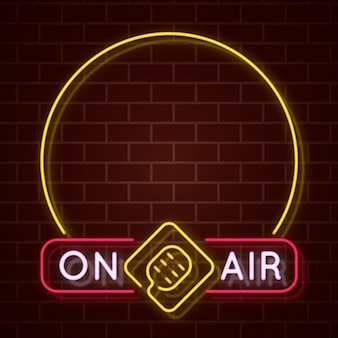 On air neon frame