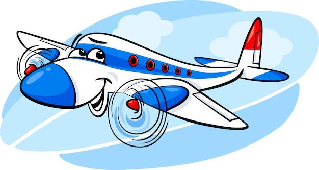 비행기 만화 일러스트 레이션