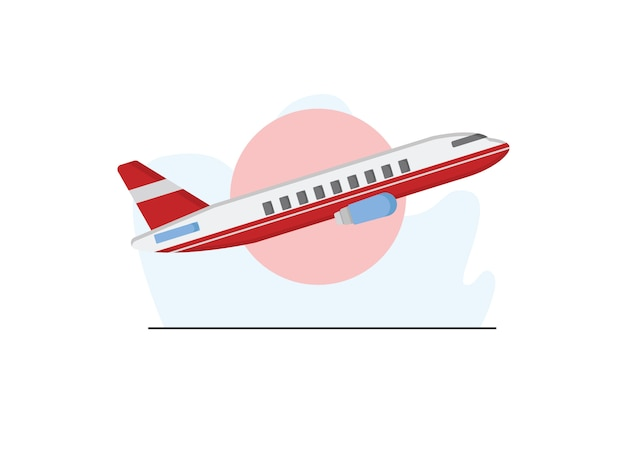 Air plane illustration in flat style