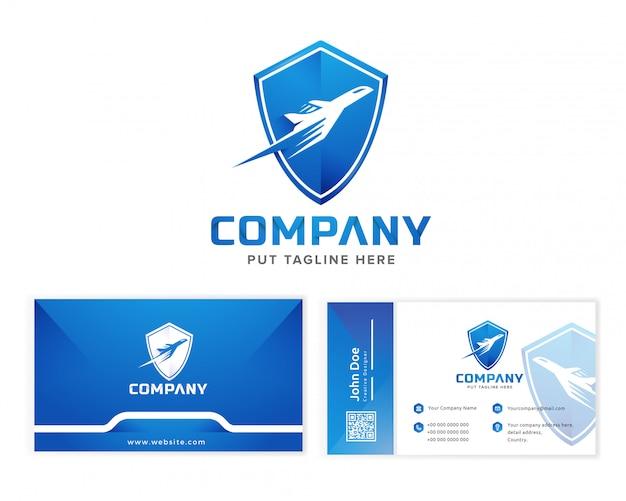 会社の飛行機のロゴのテンプレート
