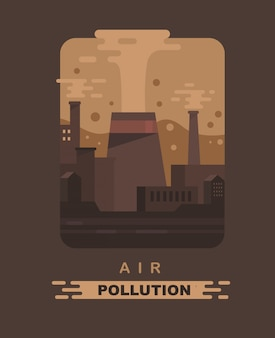 Air pollution and factory.