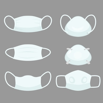 Air pollution mask, protective devices allergy for hospital medical masks to prevent smog and virus