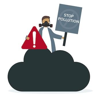 Air pollution smog and bad air