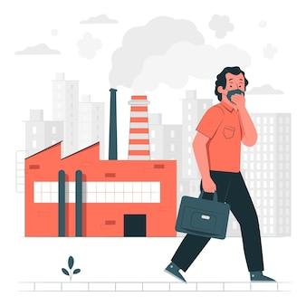 Air pollutionconcept illustration