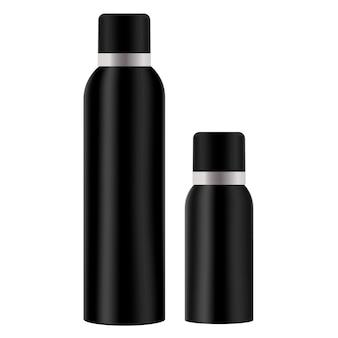 Air spray freshener bottle. cosmetic tin.