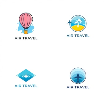 Air travel logo vector design template