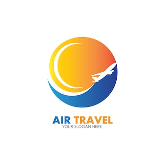 空の旅のロゴベクトルアイコンデザインテンプレート-ベクトル