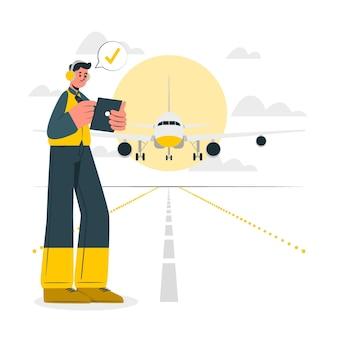 Иллюстрация концепции самолета