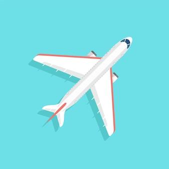 広い翼を持つ航空機が青い空を飛んでいます。