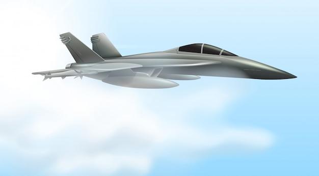 Airforce jet flying scene
