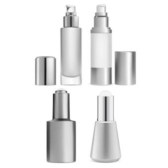 Airless pump serum bottle design